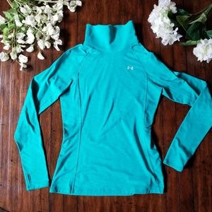 UNDER ARMOUR | Cold Gear Teal Fleece Lined Pullove